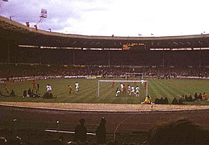 1974 FA Charity Shield - Image: The Charity Shield of 1974 at Wembley geograph.org.uk 620498