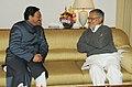 The Chief Minister of Uttarakhand, Shri Ramesh Pokhriyal meeting the Union Minister for Road Transport and Highways, Dr. C.P. Joshi, in New Delhi on February 03, 2011.jpg