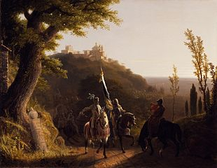 The Duke of Bourbon's Halt at La Riccia, on His March to the Assau Rome, May 3d, 1527