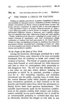 federalist no  black text on white in old fashioned type