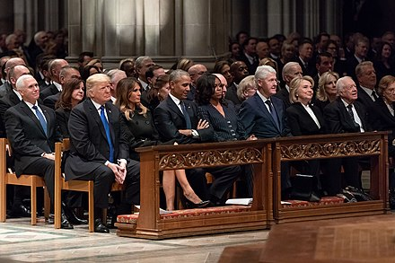 The state funeral of George H. W. Bush in December 2018 The Funeral of President George H.W. Bush (31265099837).jpg