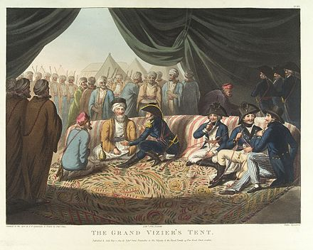 Sir Sidney Smith in the Grand Vizier's Tent, 1799 The Grand Vizier's Tent Wellcome L0033987.jpg