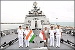 The High Commissioner of India to Singapore Jawed Ashraf onboard INS Sahyadri.jpg