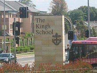 The King's School, Parramatta - School entrance