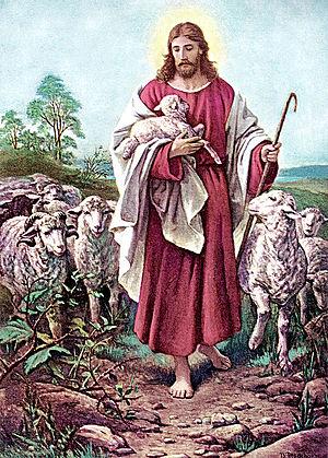 Bernhard Plockhorst - Image: The Lord is my Good Shepherd