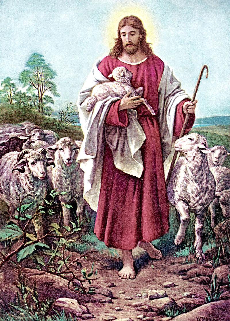 Good Shepherd by German Artist Bernard Plockhorst, 19th century