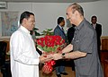 The Minister of Health of Sri Lanka, Mr. Maithripala Sirisena called on the Union Minister for Health and Family Welfare, Shri Ghulam Nabi Azad, in New Delhi on August 03, 2011.jpg