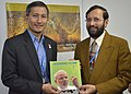 The Minister of State for Environment, Forest and Climate Change (Independent Charge), Shri Prakash Javadekar presenting the book on Climate Change authored by the Prime Minister, Shri Narendra Modi (2).jpg