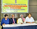 The Minister of State for Labour and Employment (Independent Charge), Shri Bandaru Dattatreya addressing a press conference on Awareness Programme on Demonetization and Cashless Transactions, in Vijayawada.jpg