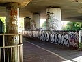 The Parkway undercroft with attending graffiti vandalism - geograph.org.uk - 1018979.jpg