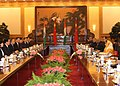 The President, Smt. Pratibha Devisingh Patil and the President of the People's Republic of China, Mr. Hu Jintao, at a delegation level talks, at Great Hall of the Peoples, in Beijing on May 27, 2010.jpg