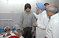 The Prime Minister, Dr. Manmohan Singh meets the bomb blast victims at Ram Manohar Lohia Hospital, in New Delhi on September 14, 2008.jpg