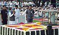The Prime Minister, Dr. Manmohan Singh paying homage at the Samadhi of Mahatma Gandhi on his 139th birth anniversary, at Rajghat in Delhi on October 02, 2008.jpg