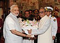 The Prime Minister, Shri Narendra Modi being received by the President of Bangladesh, Mr. Abdul Hamid, at Bangabhaban, in Dhaka, Bangladesh on June 07, 2015 (1).jpg