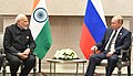 The Prime Minister, Shri Narendra Modi in a bilateral meeting with the President of Russian Federation, Mr. Vladimir Putin, on the sidelines of the BRICS Summit, in Johannesburg, South Africa on July 26, 2018 (1).JPG