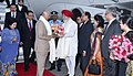 The Prime Minister of Malaysia, Dato' Sri Mohd Najib Bin Tun Abdul Razak being received by the Minister of State for Agriculture & Farmers Welfare and Parliamentary Affairs, Shri S.S. Ahluwalia, on his arrival, in New Delhi.jpg