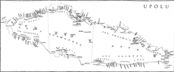 Ātua, comprising the eastern third of Upolu Island on map of 1924