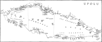 Tuamasaga - Tuamasaga district on the map of 1924