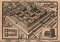 The Temple of Solomon; aerial view, with flames billowing fr Wellcome V0034335.jpg