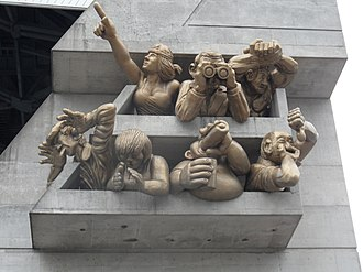 Rogers Centre - The Audience by Michael Snow on the northwest corner façade