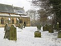 The churchyard of St. Cuthbert's Church, Allendale, under snow - geograph.org.uk - 1110621.jpg