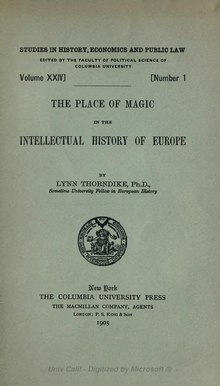 The place of magic in the intellectual history of Europe.djvu