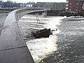 The sunken barge, Castleford Weir (geograph 2782679).jpg