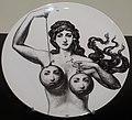 Theme and Variations plate by Piero Fornasetti - Montreal Museum of Fine Arts - Montreal, Canada - DSC09059.jpg