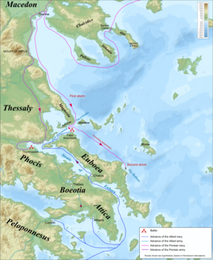 Battle of Artemisium - Image: Thermopylae & Artemisium campaign map