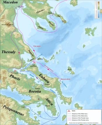 Thermopylae & Artemisium campaign map