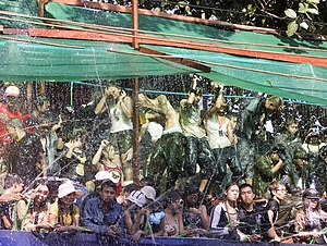 Thingyan celebration in Yangon