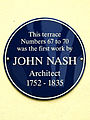 This terrace Numbers 67 to 70 was the first work by John Nash Architect 1752 - 1835.jpg