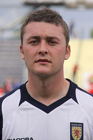 Tam Scobbie - Scobbie as a Scotland U21 player