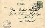 Thorn, Westpreußen - Kriegerdenkmal; Eisenbahnbrücke; Brückentor (back) (Zeno Ansichtskarten).jpg