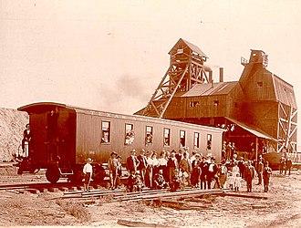 Thurber, Texas - Coal-mining facility at Thurber, Texas, around 1900