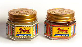English: Red and white tigerbalm