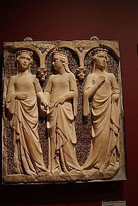 Tino di Camaino, Three Princesses (c. 1325–1335, Yale University Art Gallery).jpg