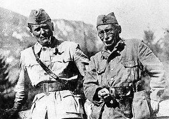 Tito e Moša Pijade nel 1942