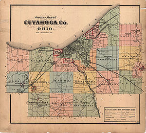 Cuyahoga County, Ohio - Cuyahoga County in 1874