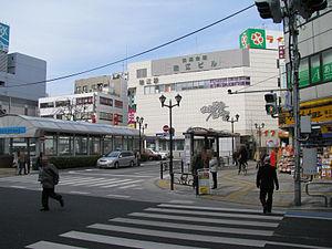 Mizue Station - South entrance to Mizue Station