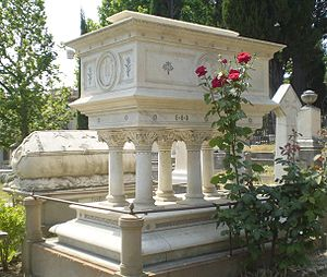 1861 in poetry - Elizabeth Barrett Browning tomb in Florence