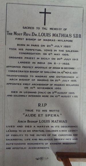 Louis Mathias - Tomb of Archbishop Louis Mathias