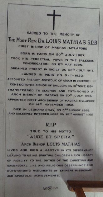 Louis Mathias - Tomb of Archbishop Louis Mathias