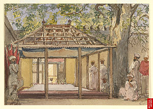 Sufi saints of Aurangabad - Tomb of Aurangzeb, Khuldabad, 1850s