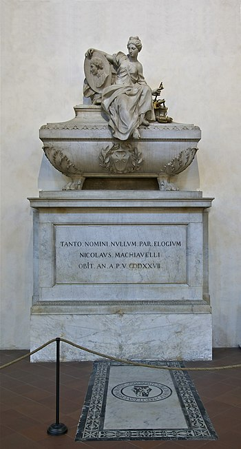 English: Niccolò Machiavelli tomb in the Santa...