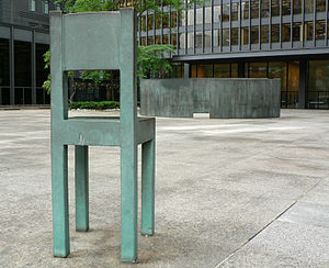 King Street (Toronto) - Wall and chairs (1985) by Al McWilliams on King Street