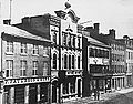 Toronto Globe office (with a globe on top) on King Street East, Toronto, Upper Canada, early 1860s.jpg
