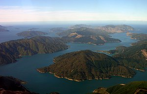 Marlborough Sounds - Tory Channel, a major arm of Queen Charlotte Sound.
