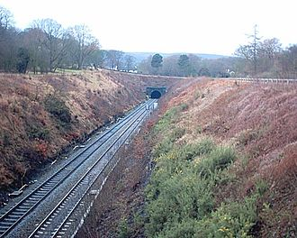 Totley Tunnel - Image: Totley Tunnel eastern portal 17 01 04