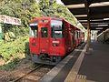 Train for Ukiha Station at Kurumedaigaku-mae Station.jpg